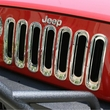 Grille Inserts, Chrome, 07-17 Jeep Wrangler by Rugged Ridge