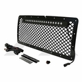 RT Offroad Black Matte Aluminum Grille & LED Light Bar Kit for 2007-2015 Wrangler JK