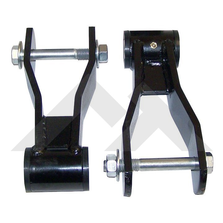 rt21045 hd greasable rear shackle kit for 1 5 inch lift 1984 01 jeep cherokee xj 1986 92 jeep