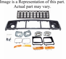 Header Panel Kit,�Fits 1991-1996 Cherokee with Black Grille