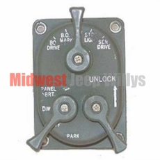 Headlight Control Switch, 24 Volt, Fits 1950-1966 Willys M38, M38A1