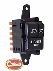 Headlight Switch, fits 1987-95 Jeep Wrangler YJ
