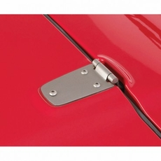 Hood Hinge Kit, Satin Stainless Steel, 98-06 Jeep Wrangler by Rugged Ridge