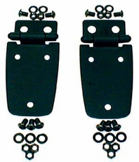 Hood Hinges, Black, 97-06 Jeep Wrangler by Rugged Ridge
