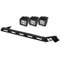 Hood Light Bar Kit, 3 Cube LED Lights, 07-17 Jeep Wrangler JK by Rugged Ridge