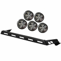 Hood Light Bar Kit, 5 Round LED Lights, 07-17 Jeep Wrangler JK by Rugged Ridge