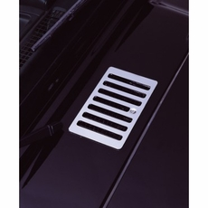 Cowl Vent Cover, Stainless Steel, 98-06 Jeep Wrangler by Rugged Ridge