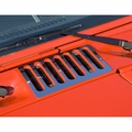 Cowl Vent Cover, Stainless Steel, 07-17 Jeep Wrangler by Rugged Ridge