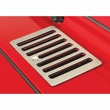 Cowl Vent Cover, Satin Stainless Steel, 98-06 Jeep Wrangler by Rugged Ridge