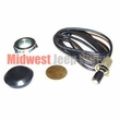 "Horn Wire Button Kit, 1-1/4"" 1949-1962 Willys Jeep CJ3A, CJ3B, CJ5, CJ6, DJ3A, FC150"