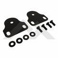 Windshield Bracket Set, Black, 76-95 Jeep CJ and Wrangler by Rugged Ridge