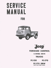 Jeep Forward Control Service Manual FC150, FC170��