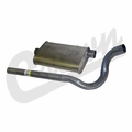 Jeep Muffler, Jeep CJ 1981-1986 w/ 2.5 or 4.2L Engine, 1979-1981 w/ 5.0L 304 Engine.