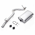 JEEP MUFFLER WITH TAILPIPE, 1993-95 4 CYL 2.5L, 6 CYL 4.0L WRANGLER