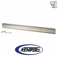 """Kentrol 54"""" Front Bumper w/out hole (no license plate holes) Polished Stainless Steel fits 1987-1995 Jeep Wrangler YJ"""