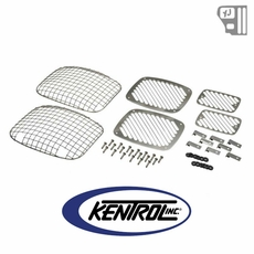 Kentrol Billet & Wire Mesh Set (6 pieces) Polished Stainless Steel fits 1987-1995 Jeep Wrangler YJ