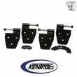 Kentrol Door Hinge Set (4 pieces) Black Powder Coated Stainless fits 1987-1995 Jeep Wrangler YJ