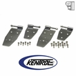 Kentrol Hardtop Door Hinge Set (4 pieces) Polished Stainless Steel fits 1994-1995 Jeep Wrangler YJ