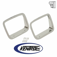 Kentrol Headlight Bezels ABS Chrome Plated Plastic fits 1987-1995 Jeep Wrangler YJ