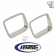Kentrol Headlight Bezels (pair) Polished Stainless Steel fits 1987-1995 Jeep Wrangler YJ