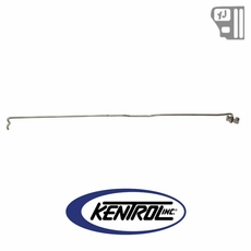 Kentrol Hood Prop Rod Polished Stainless Steel fits 1987-1995 Jeep Wrangler YJ