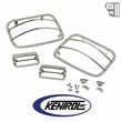 Kentrol Light Guard Set (4 pieces) Polished Stainless Steel fits 1987-1995 Jeep Wrangler YJ