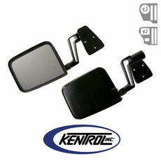 Kentrol Mirror Kit (pair) Black Powder Coated Stainless fits 1988-2006 Jeep Wrangler YJ, TJ