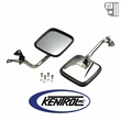 Kentrol Mirror Kit (pair) Polished Stainless Steel fits 1987-1995 Jeep Wrangler YJ