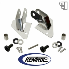 Kentrol Mirror Relocation Bracket (pair) Polished Stainless Steel fits 1987-1995 Jeep Wrangler YJ