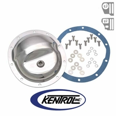 Kentrol Rear Differential Cover Model 35 Polished Stainless Steel fits 1987-2006 Jeep Wrangler YJ, TJ