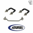 ( 30439 ) Windshield Tie Down Kit Polished Stainless Steel fits 1987-1995 Jeep Wrangler YJ by Kentrol