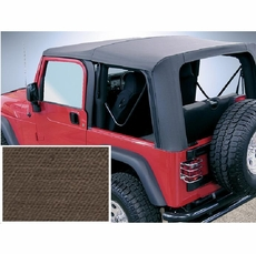 XHD Soft Top, Khaki, Clear Windows, 97-06 Jeep Wrangler by Rugged Ridge
