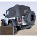 XHD Soft Top, Khaki, Tinted Windows, 97-06 Jeep Wrangler  by Rugged Ridge