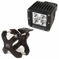 Large X-Clamp and Cube LED Light Kit, Black, Single by Rugged Ridge