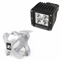 Large X-Clamp and Cube LED Light Kit, Silver, Single by Rugged Ridge