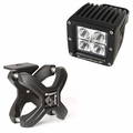 Large X-Clamp and Cube LED Light Kit, Textured Black, Single by Rugged Ridge