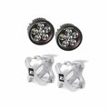 Large X-Clamp and Round LED Kit, Pair, Silver by Rugged Ridge