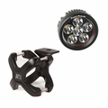 Large X-Clamp and Round LED Kit, Single, Black by Rugged Ridge