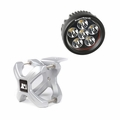 Large X-Clamp and Round LED Kit, Single, Silver by Rugged Ridge
