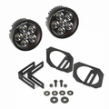 ( 1123227 ) LED Light & Mount Kit, Circle, 07-17 Jeep Wrangler by Rugged Ridge