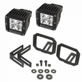 ( 1123228 ) LED Light & Mount Kit, Square, 07-17 Jeep Wrangler by Rugged Ridge