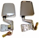 Door Mirror Kit, LED Turn Signals, Chrome, 87-02 Jeep Wrangler by Rugged Ridge
