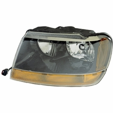 Left Side Headlight, 1999-04 Grand Cherokee Laredo