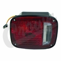 Left Side Tail Lamp Assembly, Black, fits 1976-80 Jeep CJ5, CJ7 & CJ8