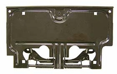 License Plate Bracket Jeep Wrangler (1987-1995); Black, Includes springs & pin.