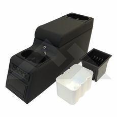 RT Off-Road Black Denim Deluxe Locking Center Console fits 1976-1995 Jeep CJ and Wrangler YJ