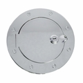 Locking Gas Cap Door, Stainless Steel, 07-17 Jeep Wrangler by Rugged Ridge