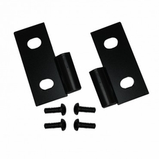 Lower Door Hinge Brackets, Black, 76-06 Jeep CJ and Wrangler by Rugged Ridge