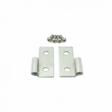 Lower Door Hinges, Stainless Steel, 76-06 Jeep CJ and Wrangler by Rugged Ridge