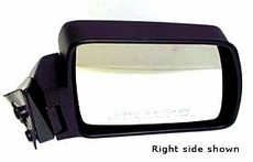 Manual Mirror, Left Jeep Cherokee (1984-1996); Left side Black w/ Foldaway; Non-Export.